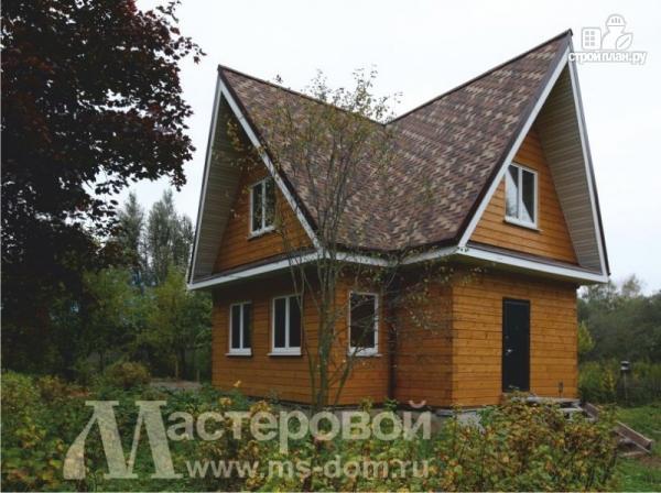 Фото 5: проект дом из бруса с мансардой