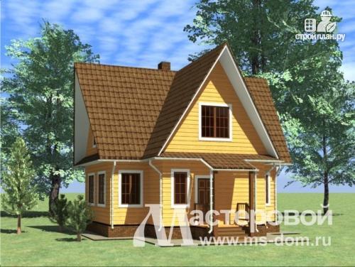 Проект бр 3 дом из бруса с мансардой