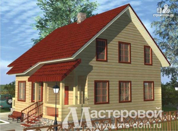 Фото 4: проект дом из профилированного бруса с большой гостиной