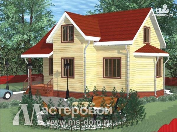 Фото 4: проект дом из бруса с рациональной планировкой