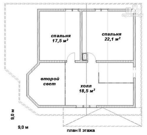 Фото 3: проект дом 9х9 из бруса