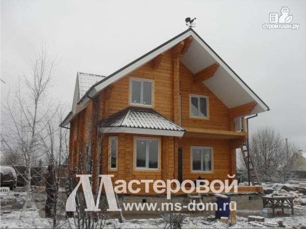 Фото 5: проект дом из бруса с мансардой и балконом