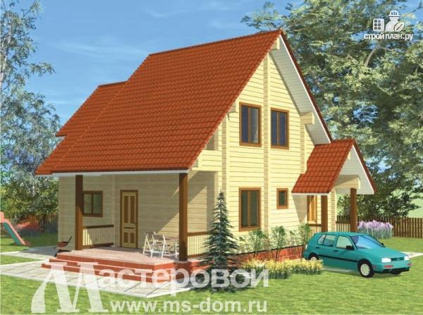 Фото 4: проект дом из профилированного бруса с парной