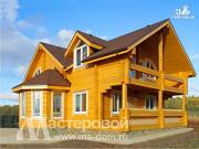 Фото: загородный дом из бруса с эркером