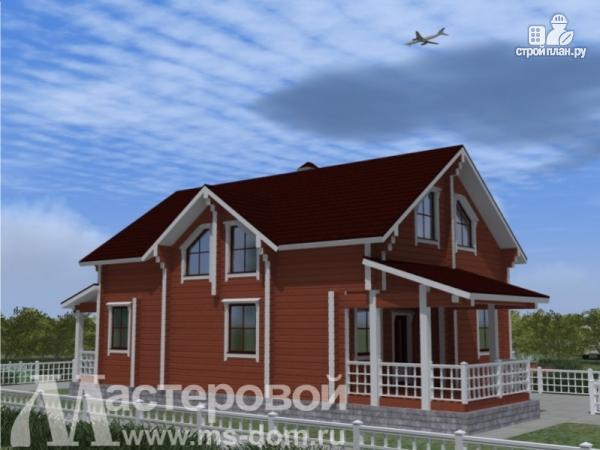 Фото 5: проект дом из профилированного бруса с двухсветной гостиной