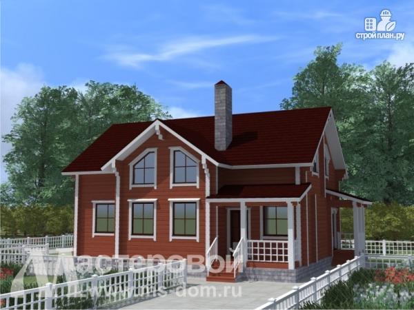Фото: проект дом из профилированного бруса с двухсветной гостиной