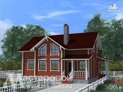 Фото: дом из профилированного бруса с двухсветной гостиной