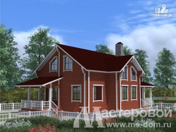 Фото 4: проект дом из профилированного бруса с двухсветной гостиной