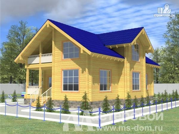 Фото: проект деревянный дом 9х14 из бруса