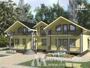 Проект дом из бруса для двух поколений