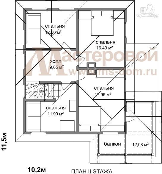 Бр 36 двухэтажный деревянный дом из