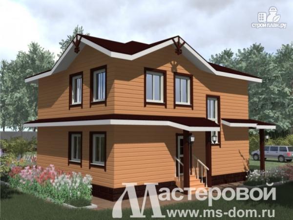 Фото 4: проект двухэтажный деревянный дом из профилированного бруса естественной влажности
