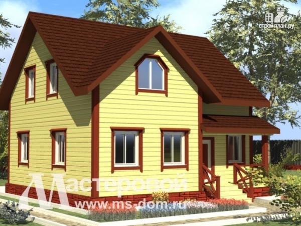 Проект бр 37 деревянный дом 9х9 из