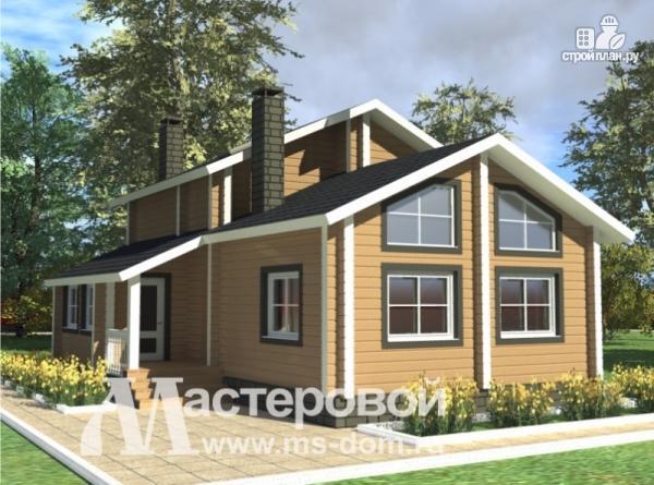 Фото: проект деревянный дом 8х11 из бруса