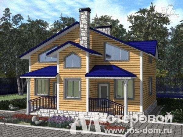 Фото: проект дом из бруса на две семьи