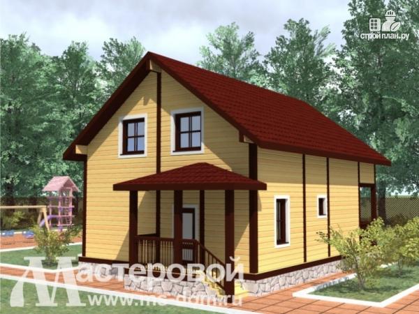 Фото 4: проект деревяный дом из бруса с балконом