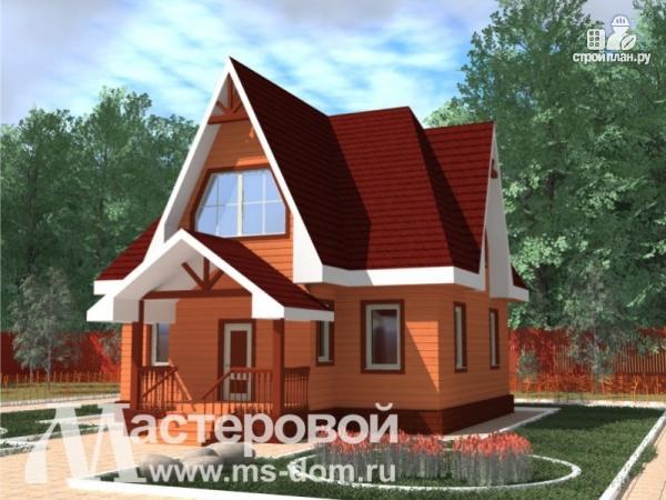 Фото: проект деревянный дом с мансардой