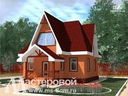 Фото: деревянный дом с мансардой
