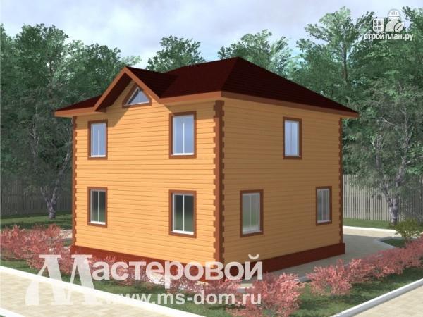 Фото 4: проект компактный деревянный дом из бруса