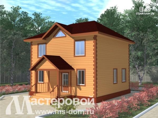 Фото: проект компактный деревянный дом из бруса