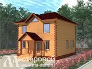 Фото: компактный деревянный дом из бруса