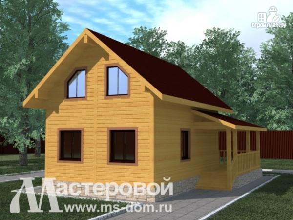 Фото: проект дом из бруса для дачного отдыха