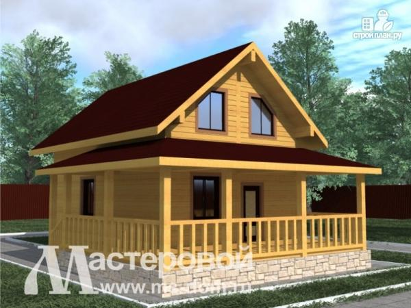 Фото 4: проект дом из бруса для дачного отдыха