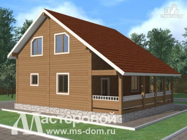 Фото: проект дом из бруса с террасой
