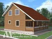 Фото: дом из бруса с террасой