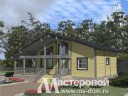 Фото: одноэтажный дом из бруса в стиле шале