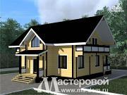 Проект двухэтажный дом из клееного бруса