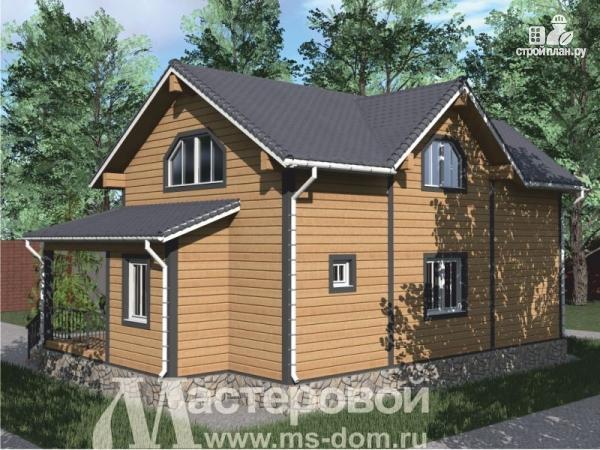 Фото 6: проект деревянный дом с двухсветной гостиной