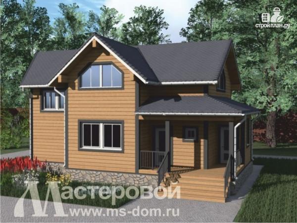 Фото: проект деревянный дом с двухсветной гостиной