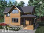 Фото: деревянный дом с двухсветной гостиной