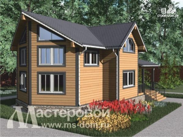 Фото 5: проект деревянный дом с двухсветной гостиной