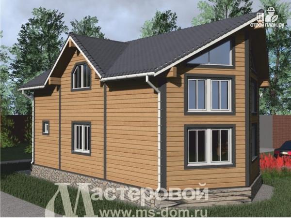 Фото 4: проект деревянный дом с двухсветной гостиной