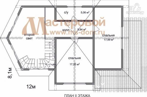 Фото 3: проект деревянный дом с двухсветной гостиной