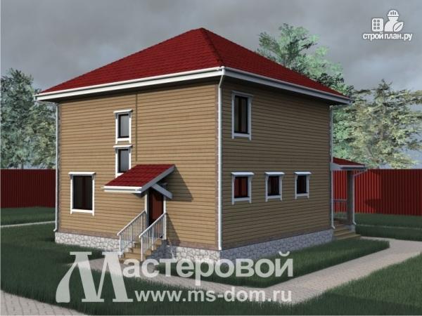Фото 4: проект дом из бруса с двумя этажами