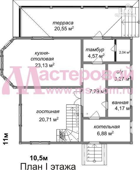 Фото 2: проект дом из бруса с двумя этажами