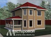 Фото: дом из бруса с двумя этажами