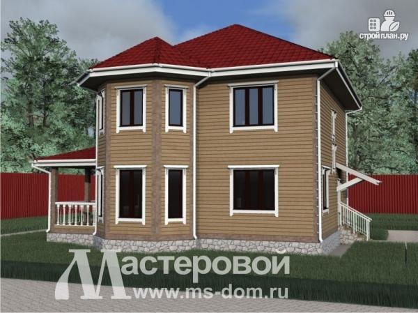 Фото 5: проект дом из бруса с двумя этажами