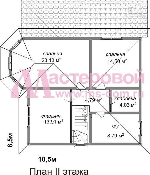Фото 3: проект дом из бруса с двумя этажами