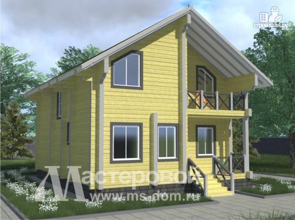 Фото: проект брусовой дом для круглогодичного проживания