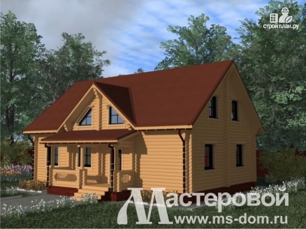 Фото 4: проект двухэтажный дом из оцилиндрованного бревна