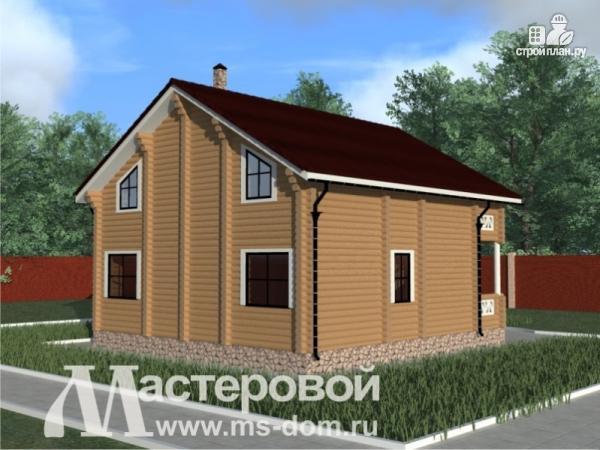 Фото 4: проект деревянный дом из оцилиндрованного бревна с балконом