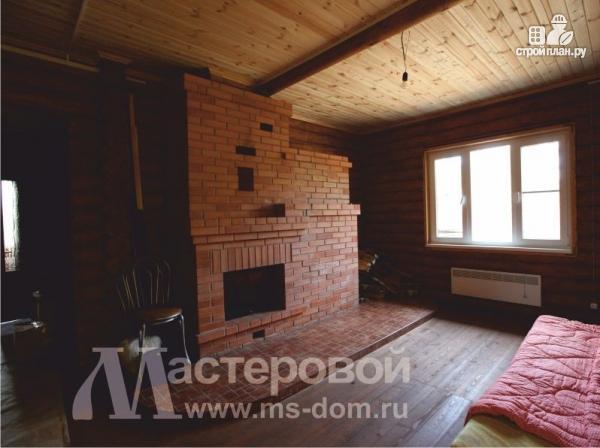 Фото 4: проект дом из бревна с мансардой