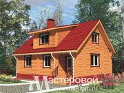 Проект дом из бревна с мансардой