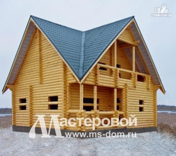 Фото 4: проект дом 9х9 из бревна