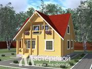 Проект дом 9х9 из бревна