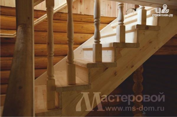 Фото 4: проект двухэтажный дом из оцилиндрованного бревна 260мм